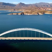 Aerial Photography Lake Roosevelt Bridge