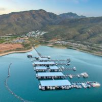 Aerial Photography Lake Roosevelt Marina